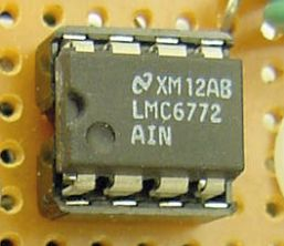 National Semiconductor LMC6772 comparator DIP